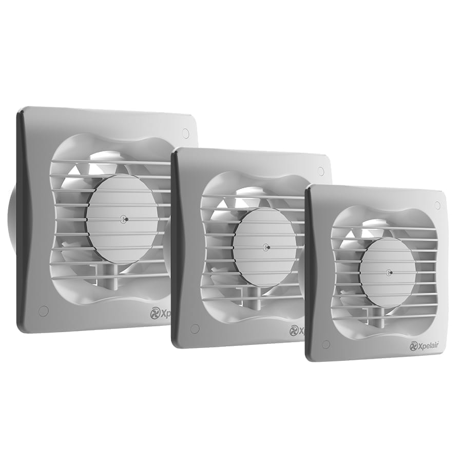 """Xpelair Extractor Fan with Timer VX100T 4/"""" 100mm Bathroom Ventilation White"""